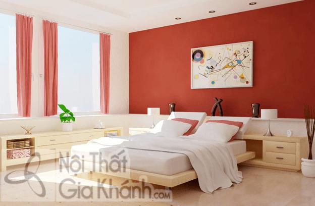 Bộ sưu tập nhà sơn tường màu đỏ cá tính