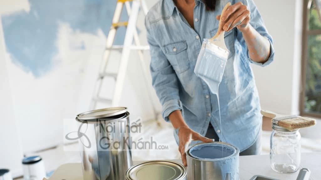tính khối lượng nước sơn tường cần sử dụng