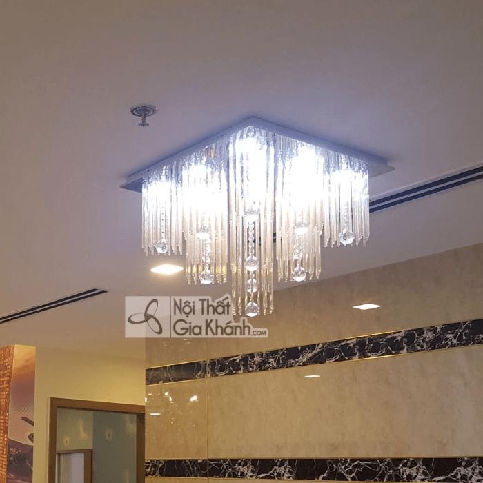 Cách treo đèn chùm phòng khách hợp lý nhất - cach treo den chum phong khach hop ly nhat