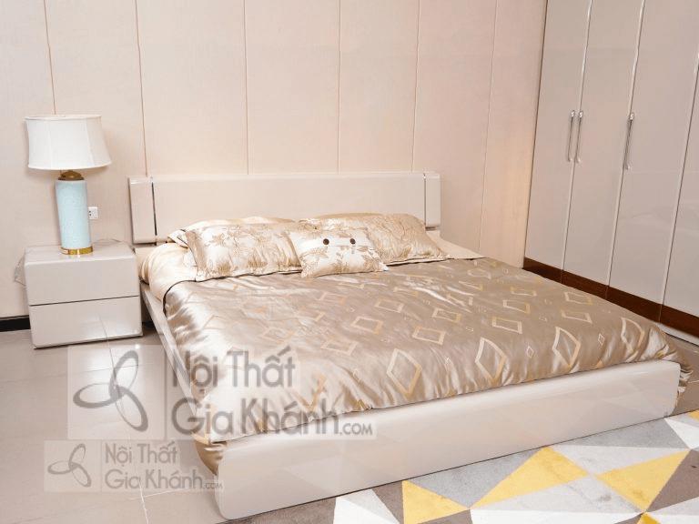 Giường ngủ màu trắng hiện đại phong cách Ý