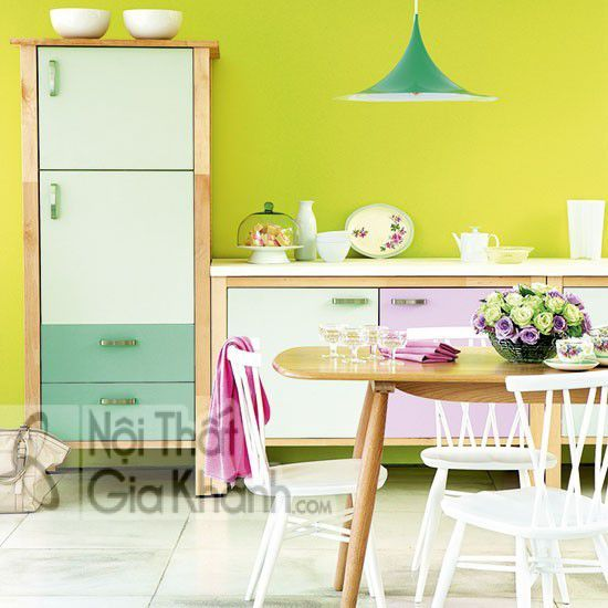 Gợi ý chọn màu sơn nhà bếp đẹp - goi y chon mau son nha bep dep 1