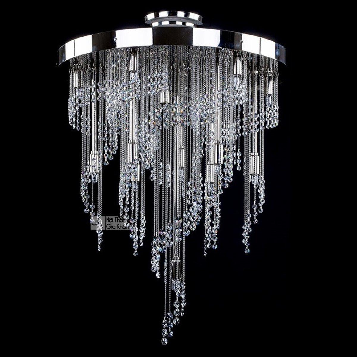 Mẫu đèn chùm pha lê cao cấp cho không gian thêm sang trọng - mau den pha le cao cap cho khong gian them sang trong