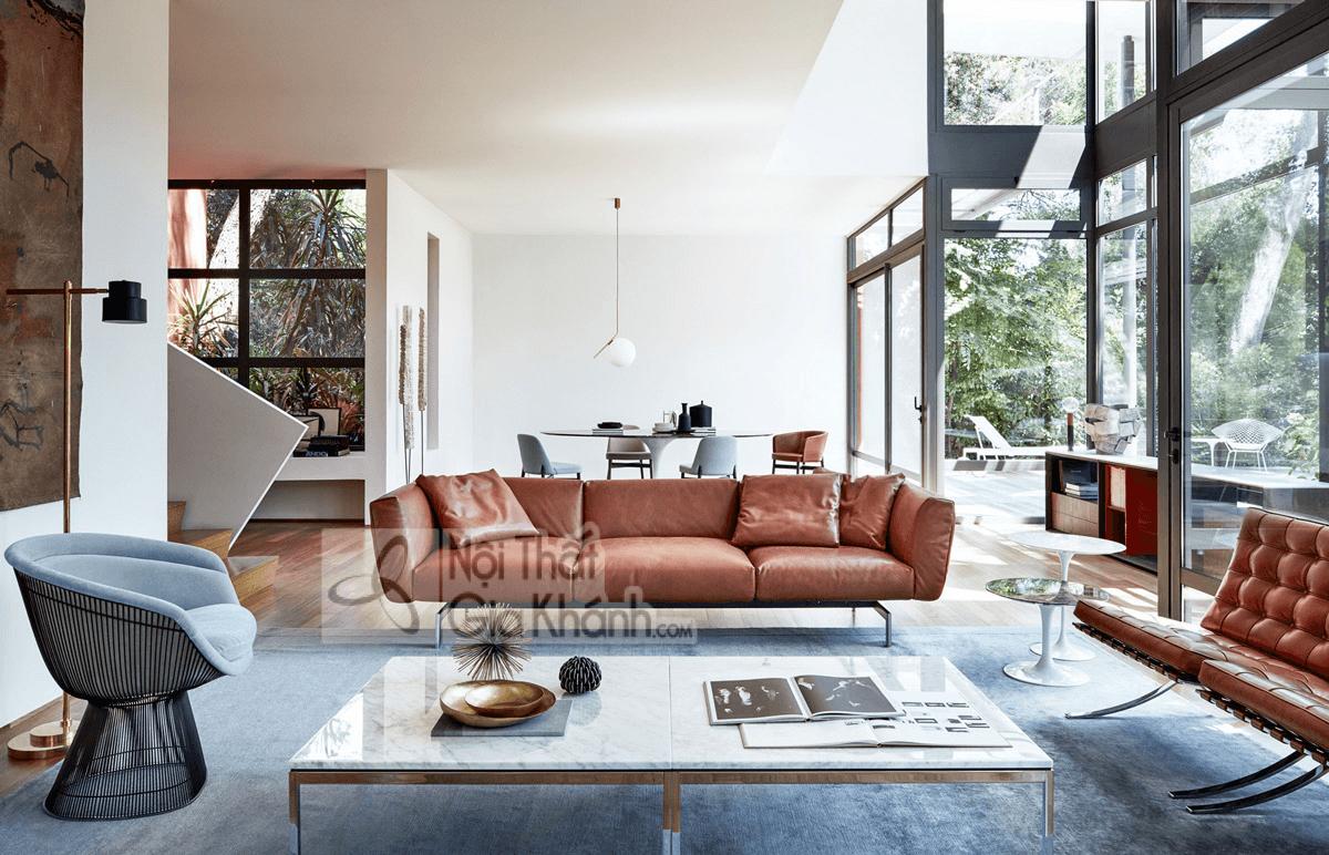 Mẹo trang trí phòng khách với ghế sofa màu nâu - meo trang tri phong khach voi ghe sofa mau nau 1