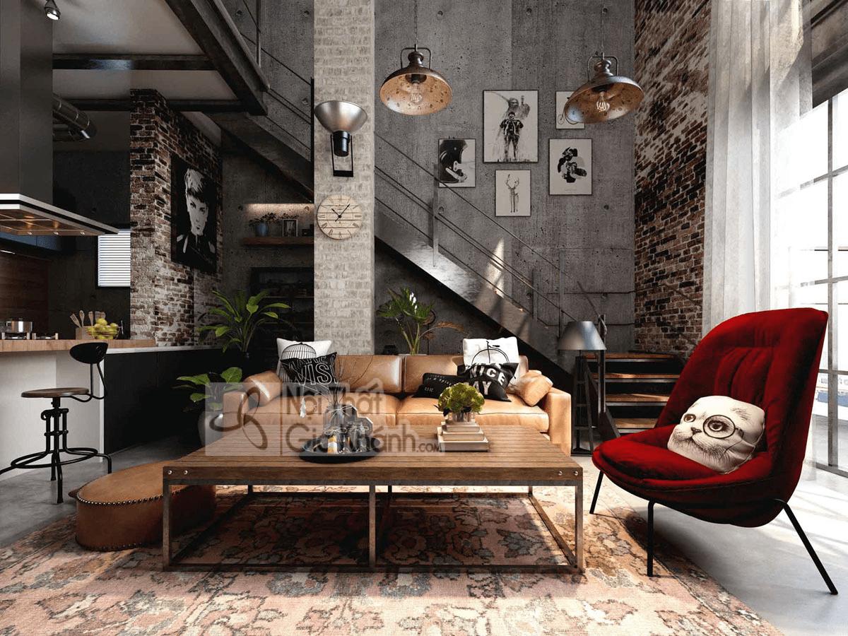 Mẹo trang trí phòng khách với ghế sofa màu nâu - meo trang tri phong khach voi ghe sofa mau nau 10