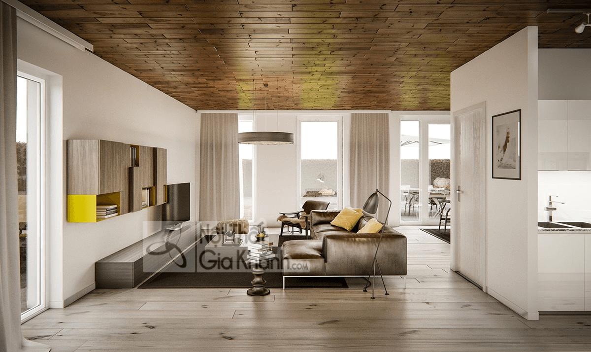 Mẹo trang trí phòng khách với ghế sofa màu nâu - meo trang tri phong khach voi ghe sofa mau nau 14