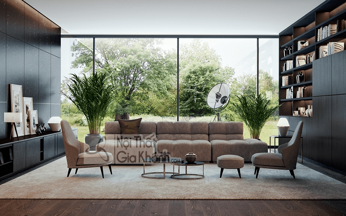 Mẹo trang trí phòng khách với ghế sofa màu nâu - meo trang tri phong khach voi ghe sofa mau nau 15