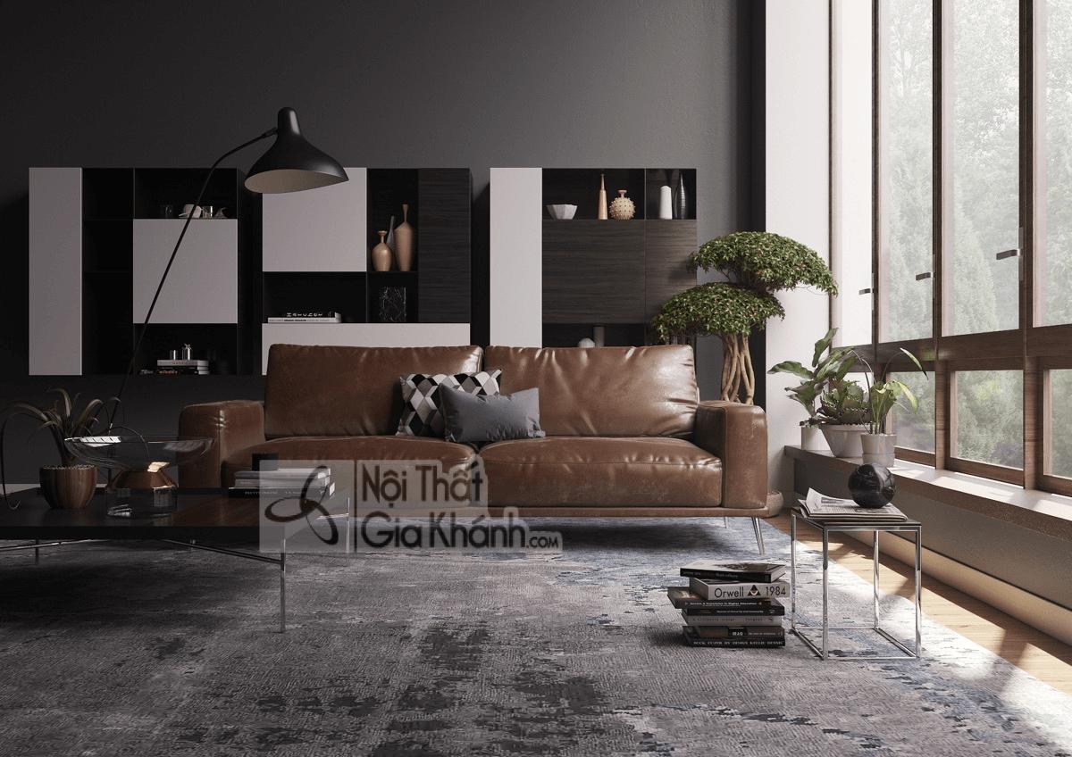 Mẹo trang trí phòng khách với ghế sofa màu nâu - meo trang tri phong khach voi ghe sofa mau nau 17