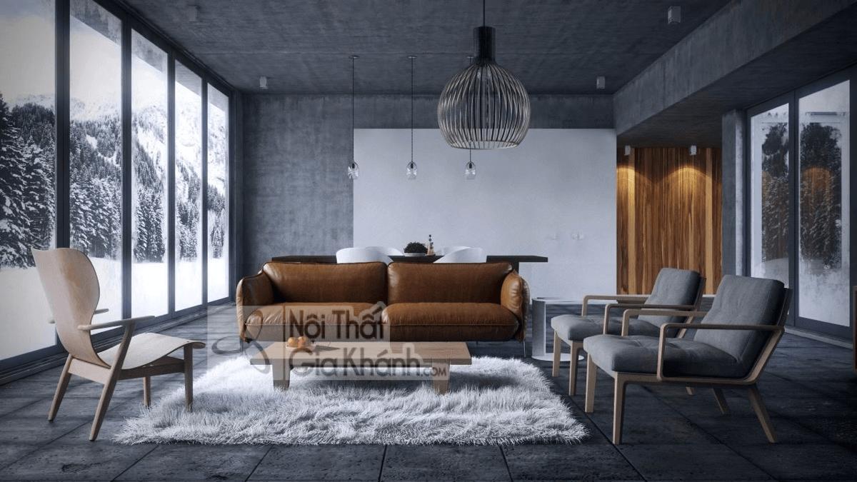 Mẹo trang trí phòng khách với ghế sofa màu nâu - meo trang tri phong khach voi ghe sofa mau nau 19