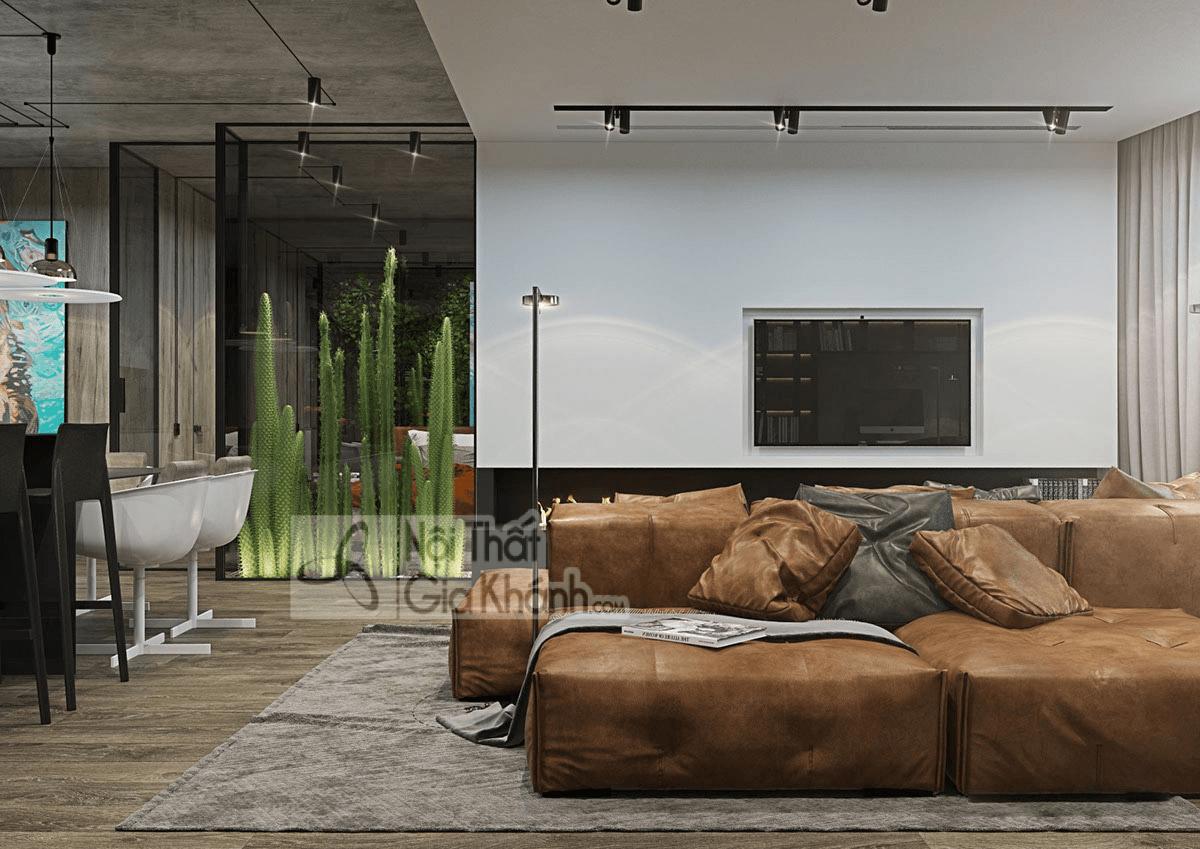 Mẹo trang trí phòng khách với ghế sofa màu nâu - meo trang tri phong khach voi ghe sofa mau nau 2
