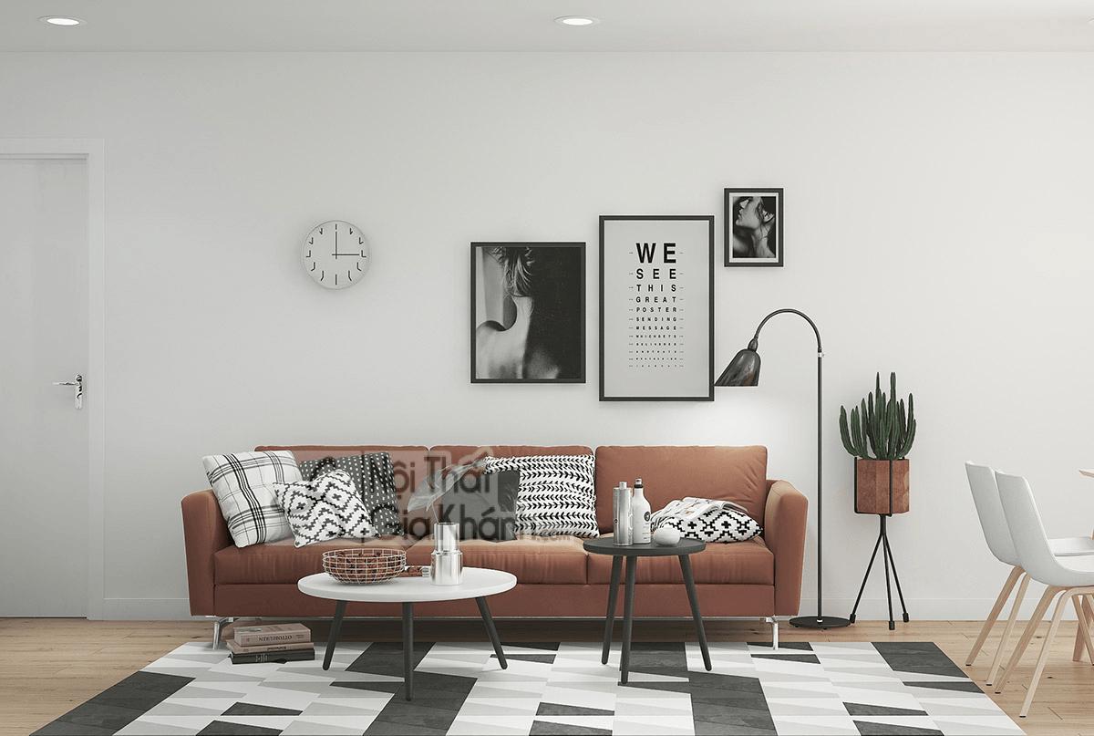 Mẹo trang trí phòng khách với ghế sofa màu nâu - meo trang tri phong khach voi ghe sofa mau nau 21