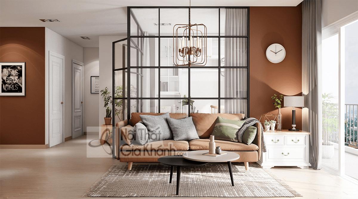 Mẹo trang trí phòng khách với ghế sofa màu nâu - meo trang tri phong khach voi ghe sofa mau nau 23