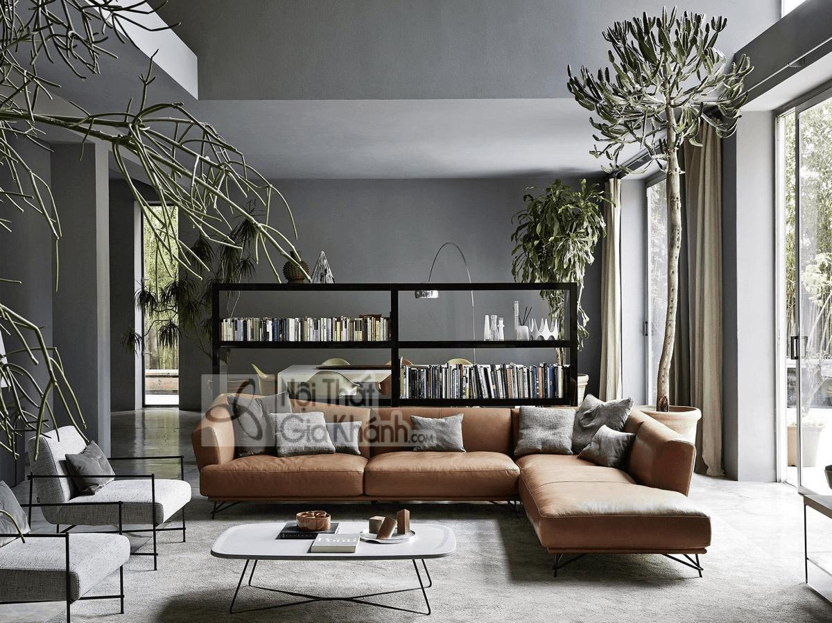 Mẹo trang trí phòng khách với ghế sofa màu nâu - meo trang tri phong khach voi ghe sofa mau nau 3