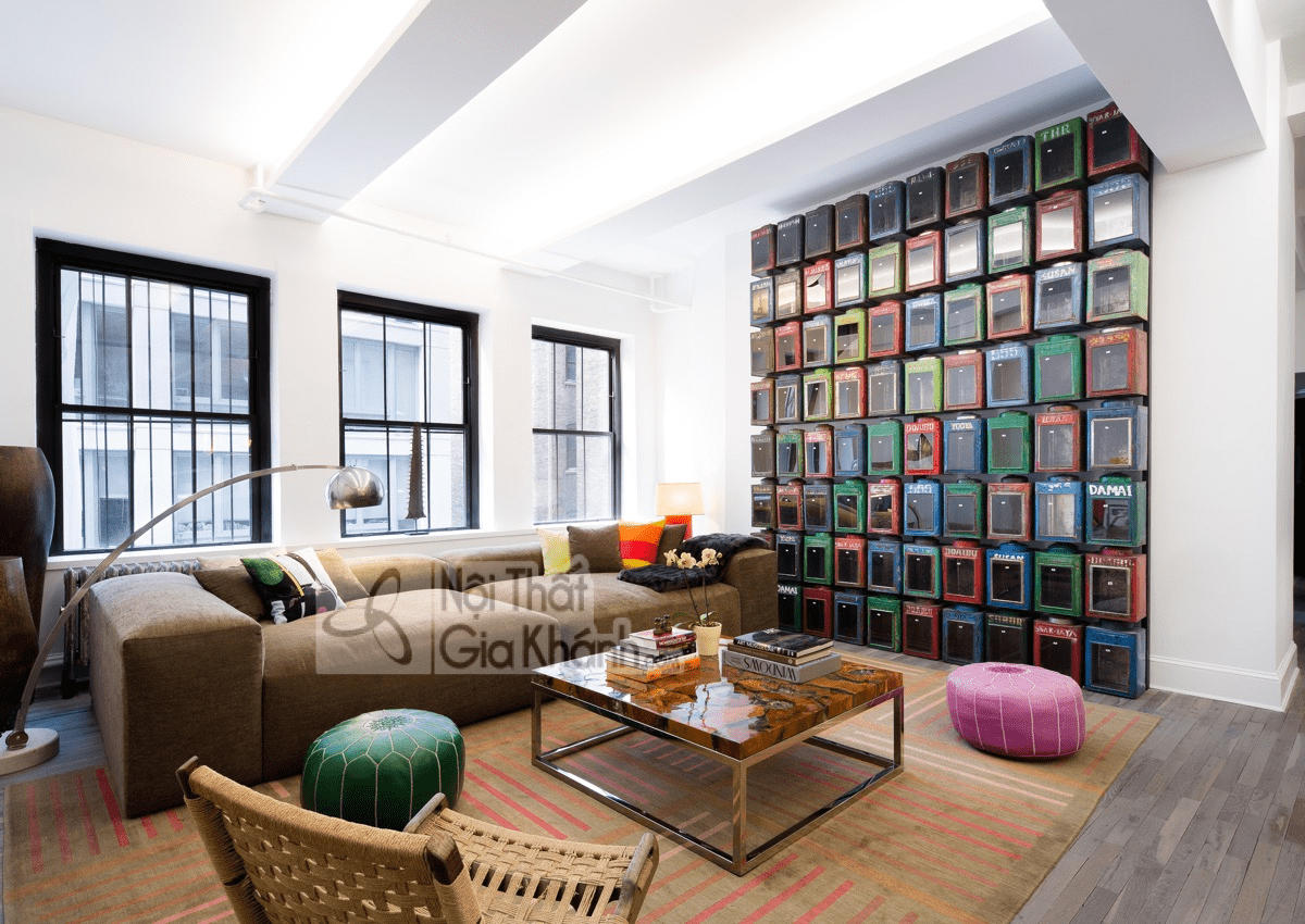Mẹo trang trí phòng khách với ghế sofa màu nâu - meo trang tri phong khach voi ghe sofa mau nau 30