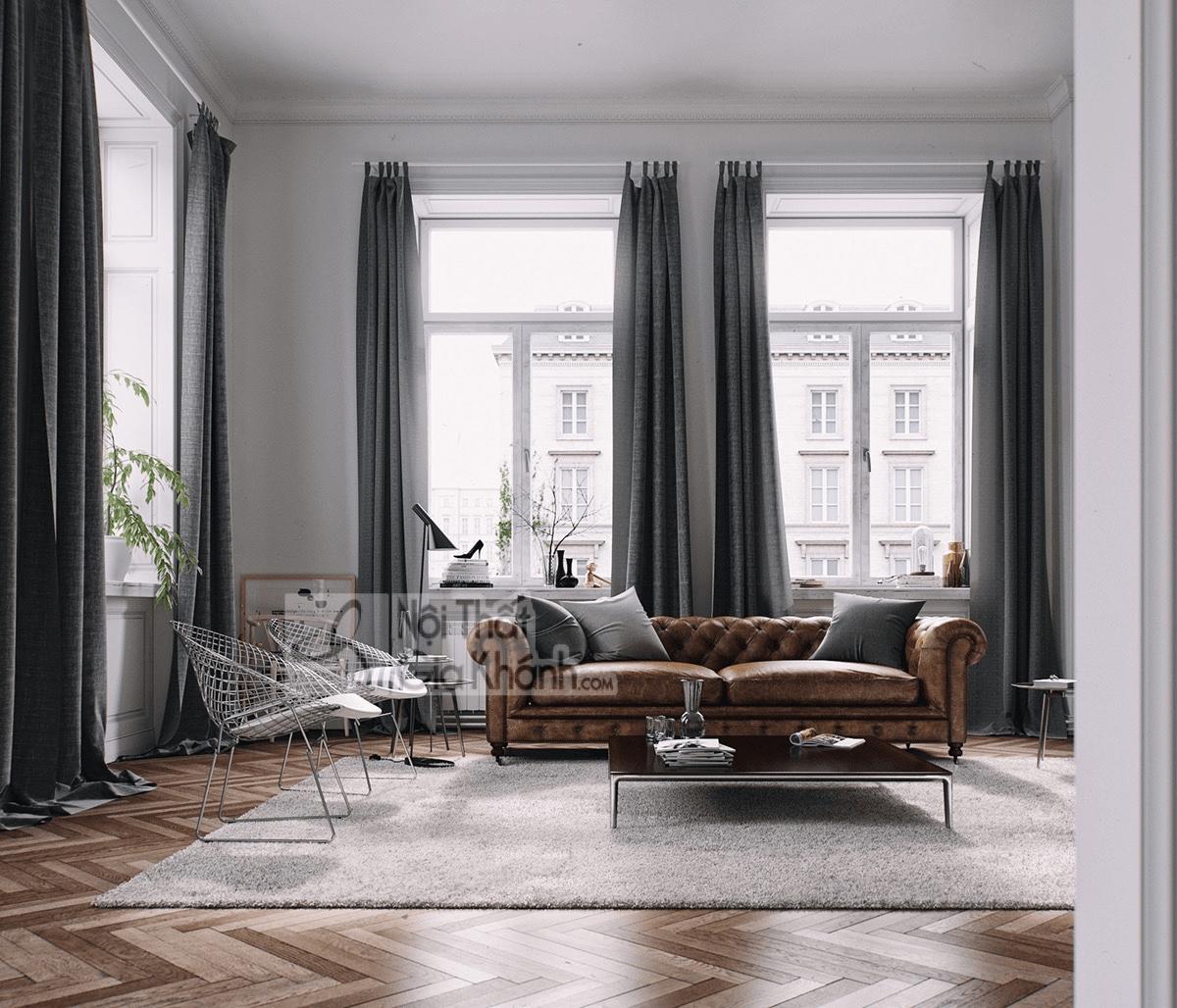 Mẹo trang trí phòng khách với ghế sofa màu nâu - meo trang tri phong khach voi ghe sofa mau nau 6