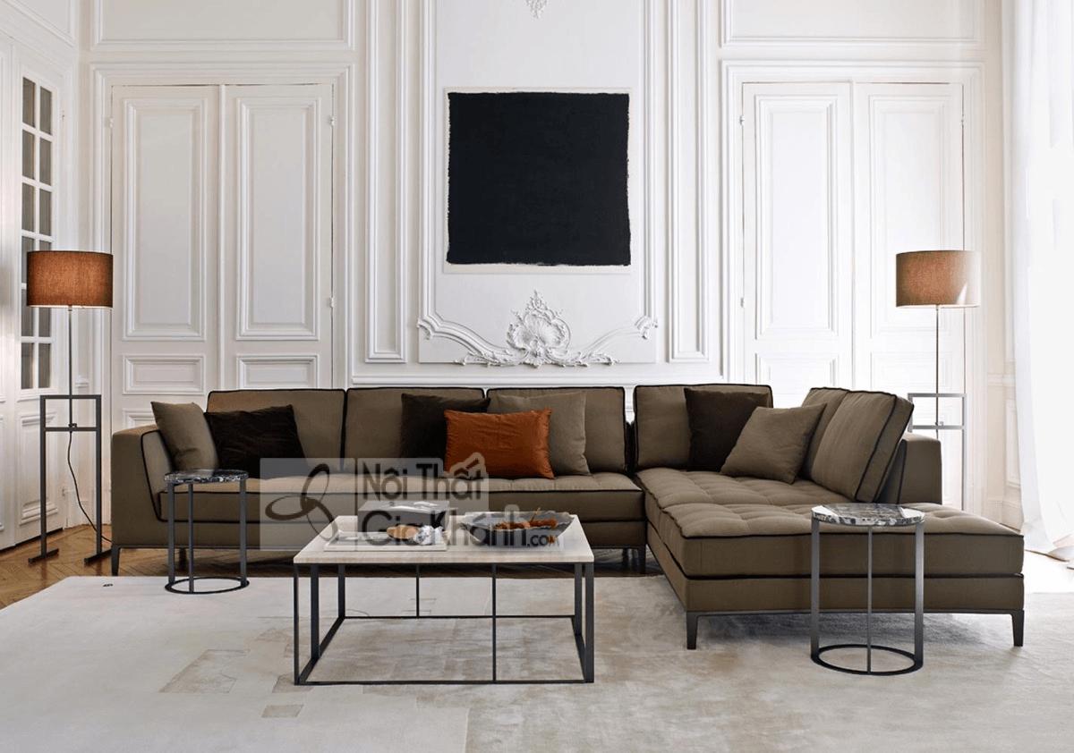 Mẹo trang trí phòng khách với ghế sofa màu nâu - meo trang tri phong khach voi ghe sofa mau nau 7