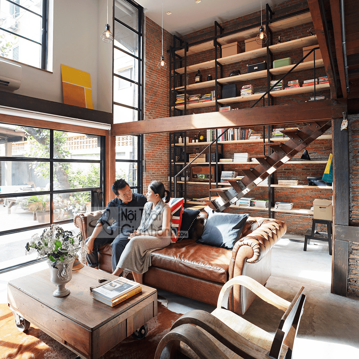 Mẹo trang trí phòng khách với ghế sofa màu nâu - meo trang tri phong khach voi ghe sofa mau nau 8