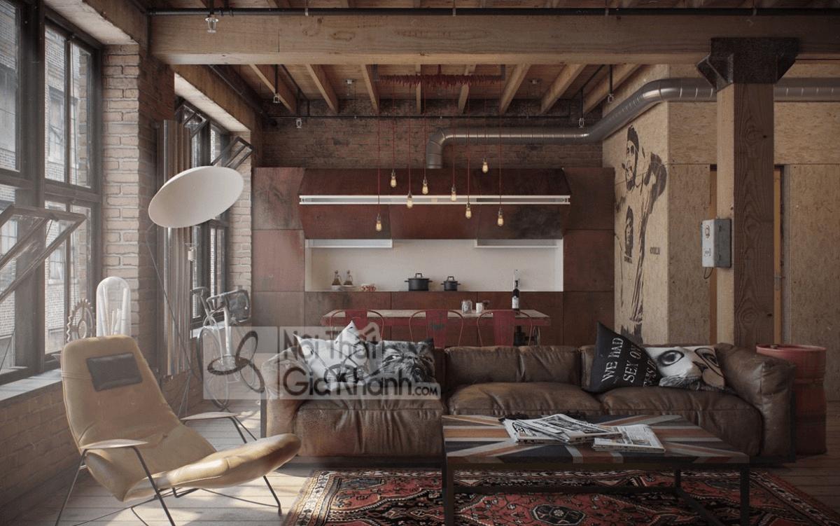 Mẹo trang trí phòng khách với ghế sofa màu nâu - meo trang tri phong khach voi ghe sofa mau nau 9