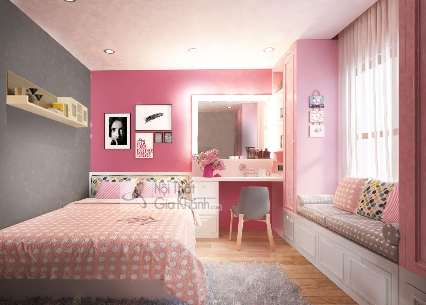 """Phòng ngủ đẹp cho vợ chồng """"màu hường"""" lãng mạn - phong ngu dep cho vo chong mau huong lang ma 6"""