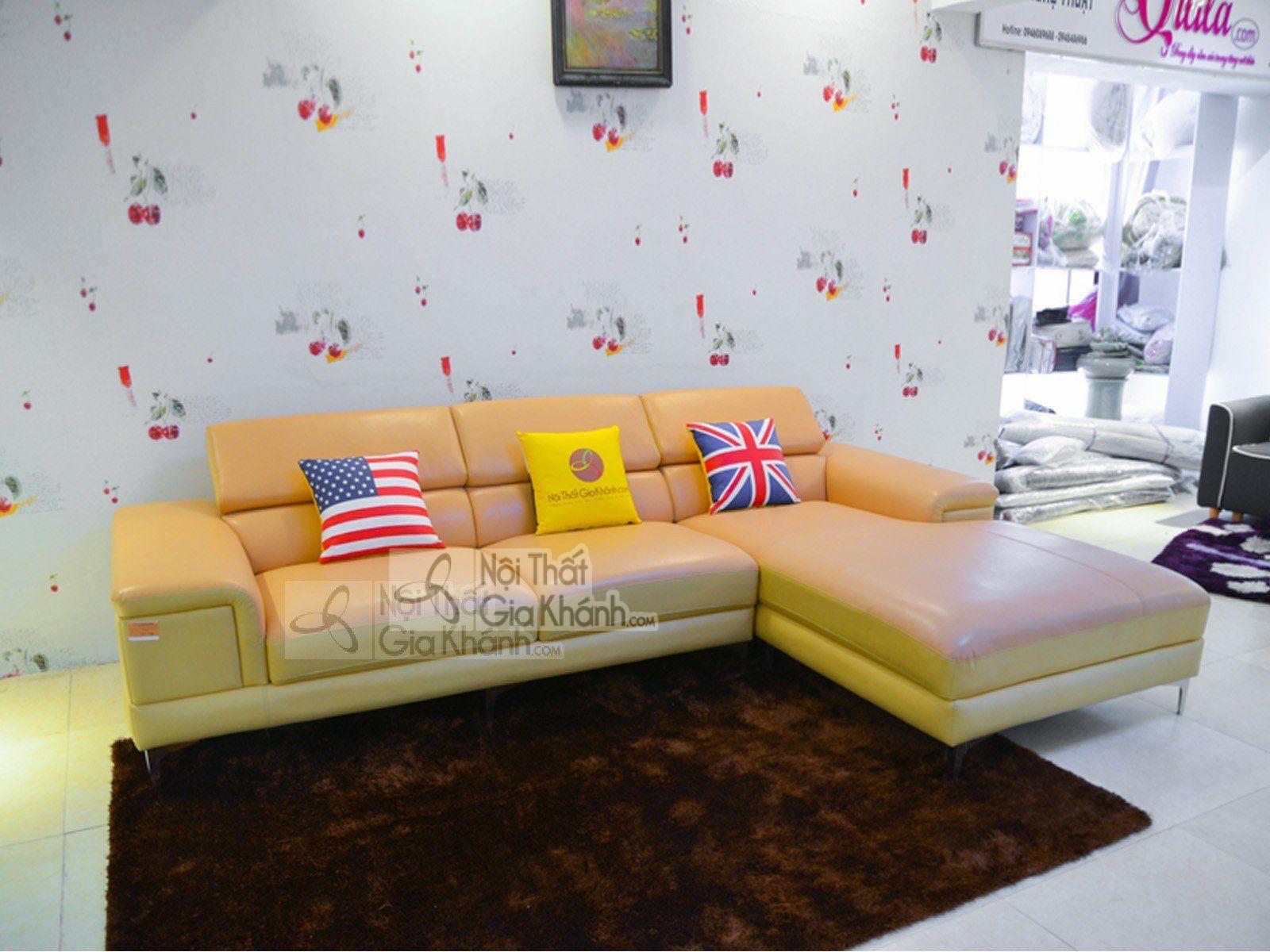 Ghế Sofa da góc trái đẹp hiện đại