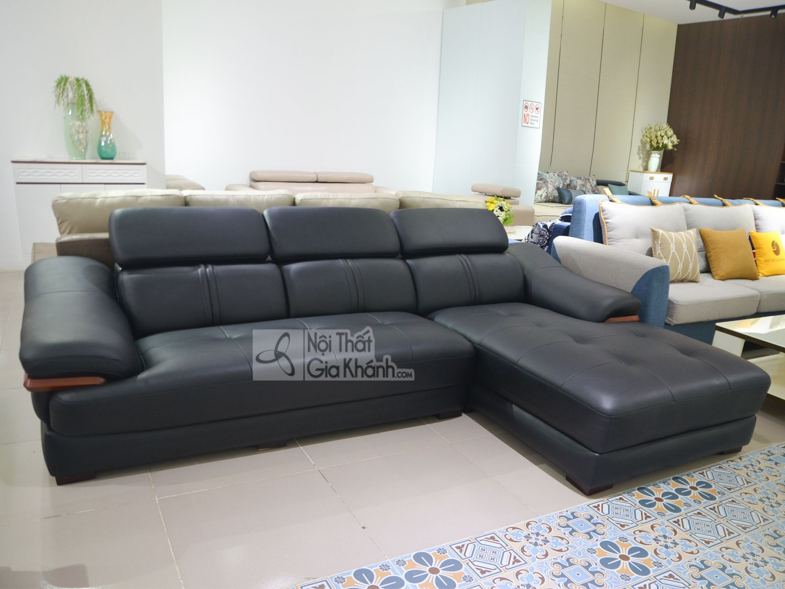 sofa da phong khach 6725d sf 4 - Sofa da 2 băng góc trái ST0672-2-C1