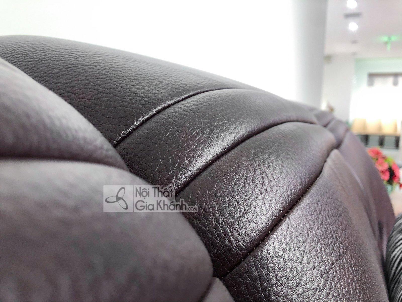 sofa nau cafe hien dai 2 bang goc trai ma 9028sf 2 - Ghế sofa da phòng khách hiện đại SP0902-2-D1