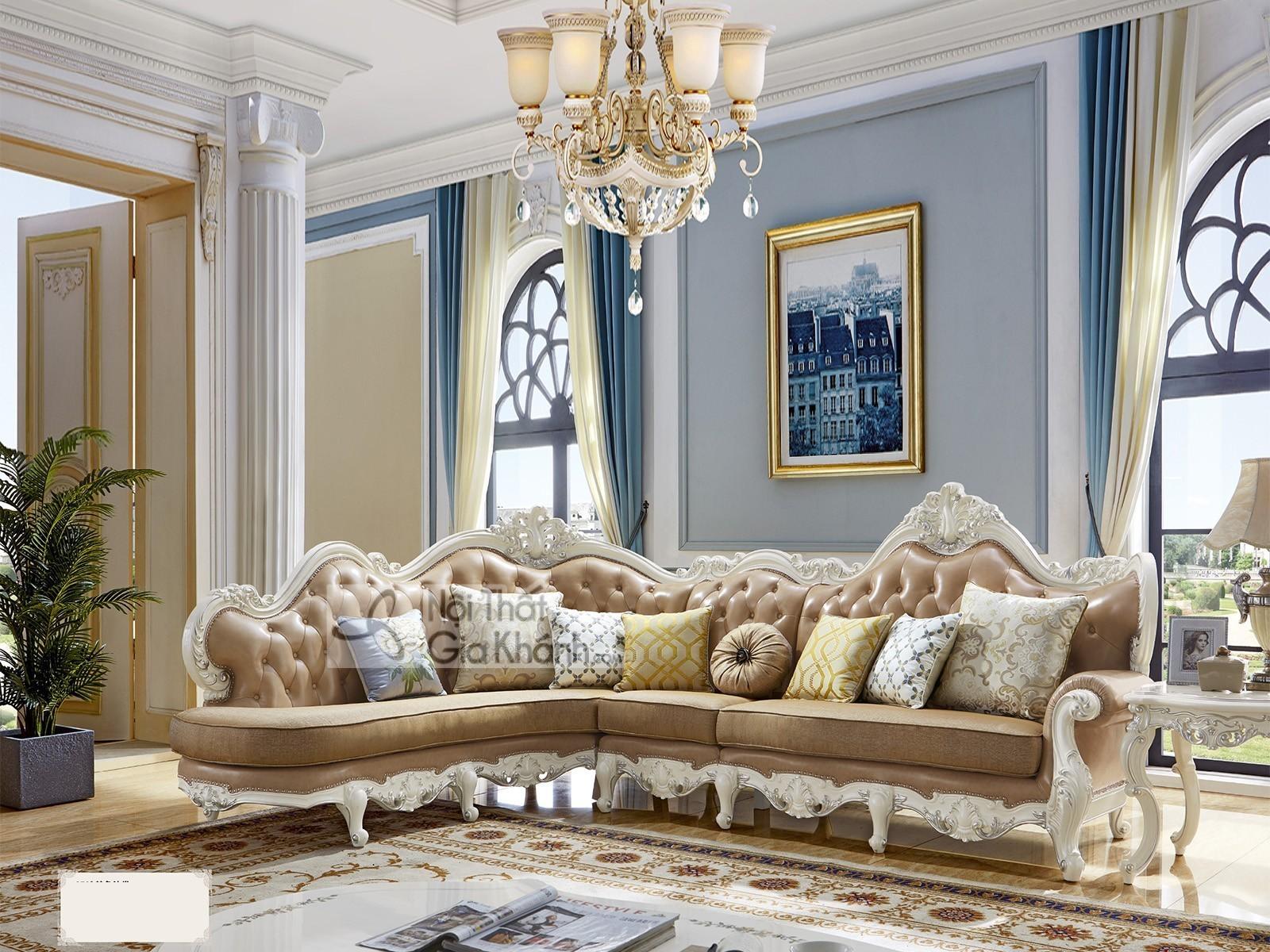 Sofa góc chữ L phong cách tân cổ điển SP959H-2