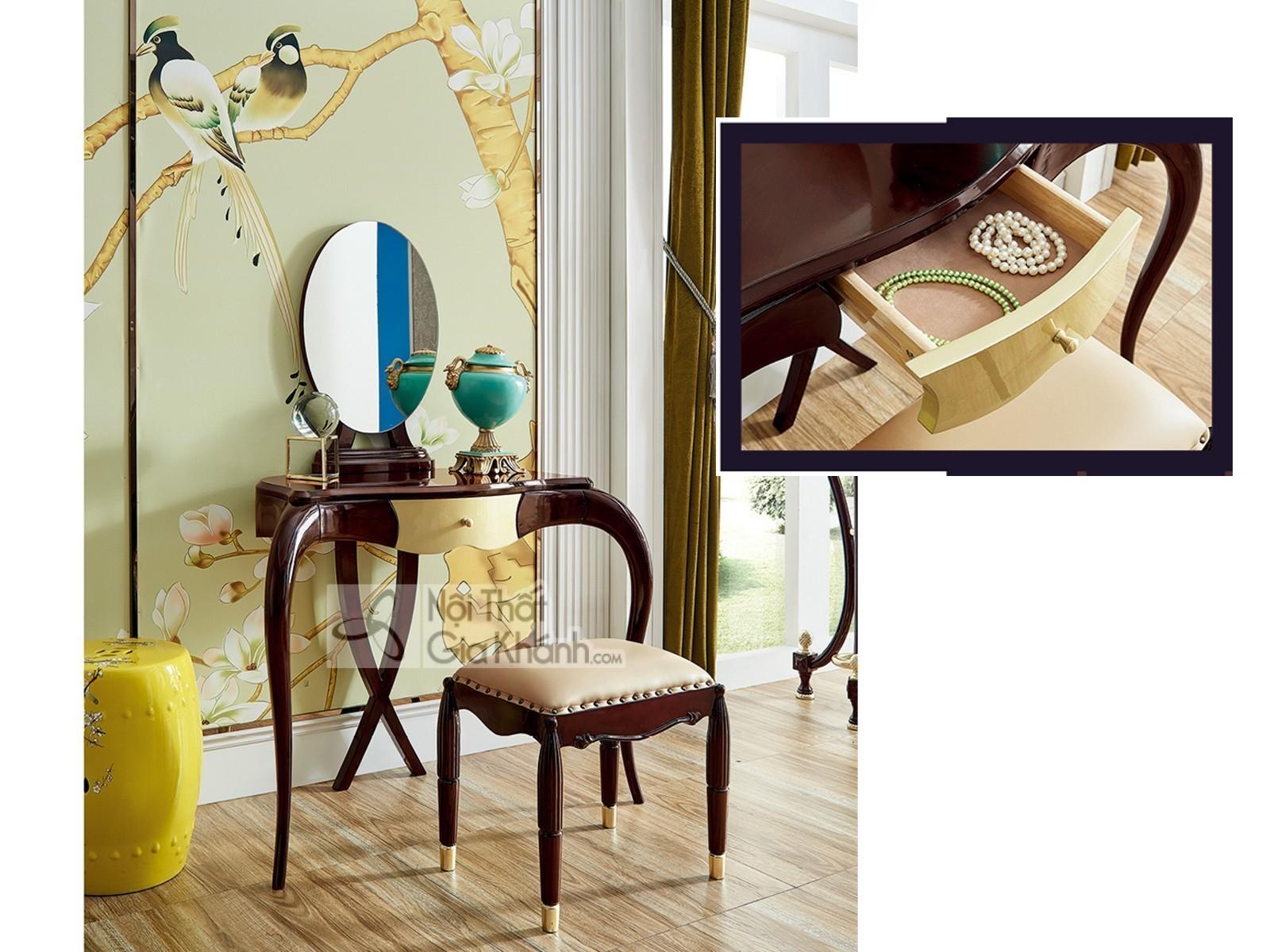 Bộ phòng ngủ phong cách tân cổ điển Pháp BN304