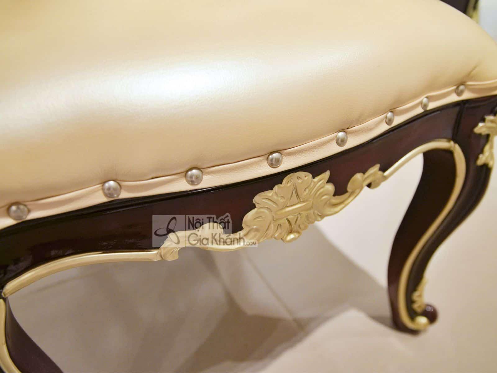 Ghế ăn tân cổ điển khung gỗ Sồi GA8801G