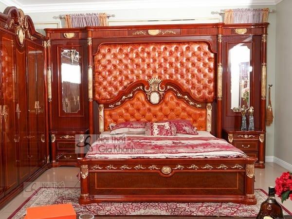 Giường ngủ gỗ sồi 1m8