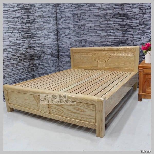 Giường gỗ sồi Nga 1m6
