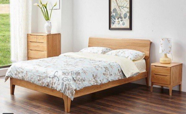 Giường gỗ sồi 1m8