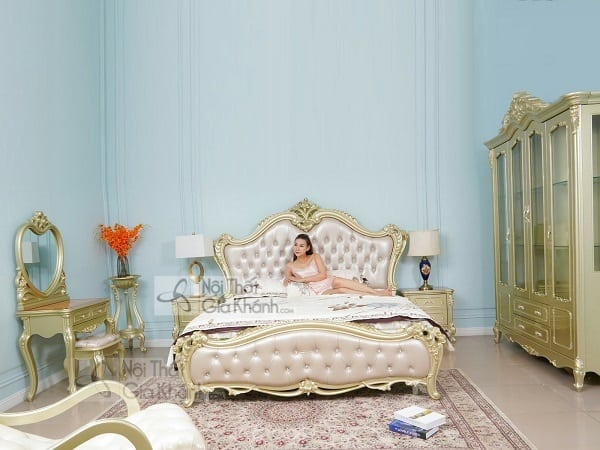 giường gỗ sồi tinh tế