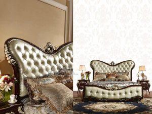 Giường ngủ màu nâu tân cổ điển G8831AL