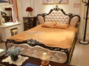 Giường Ngủ Tân Cổ Điển Gỗ Nhập Khẩu GI8821G
