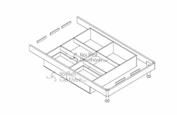 Mẫu giường hộp gỗ tự nhiên và giường kết hợp tủ đồ tiện lợi - mau giuong hop go tu nhien go cong nghiep cao cap 4