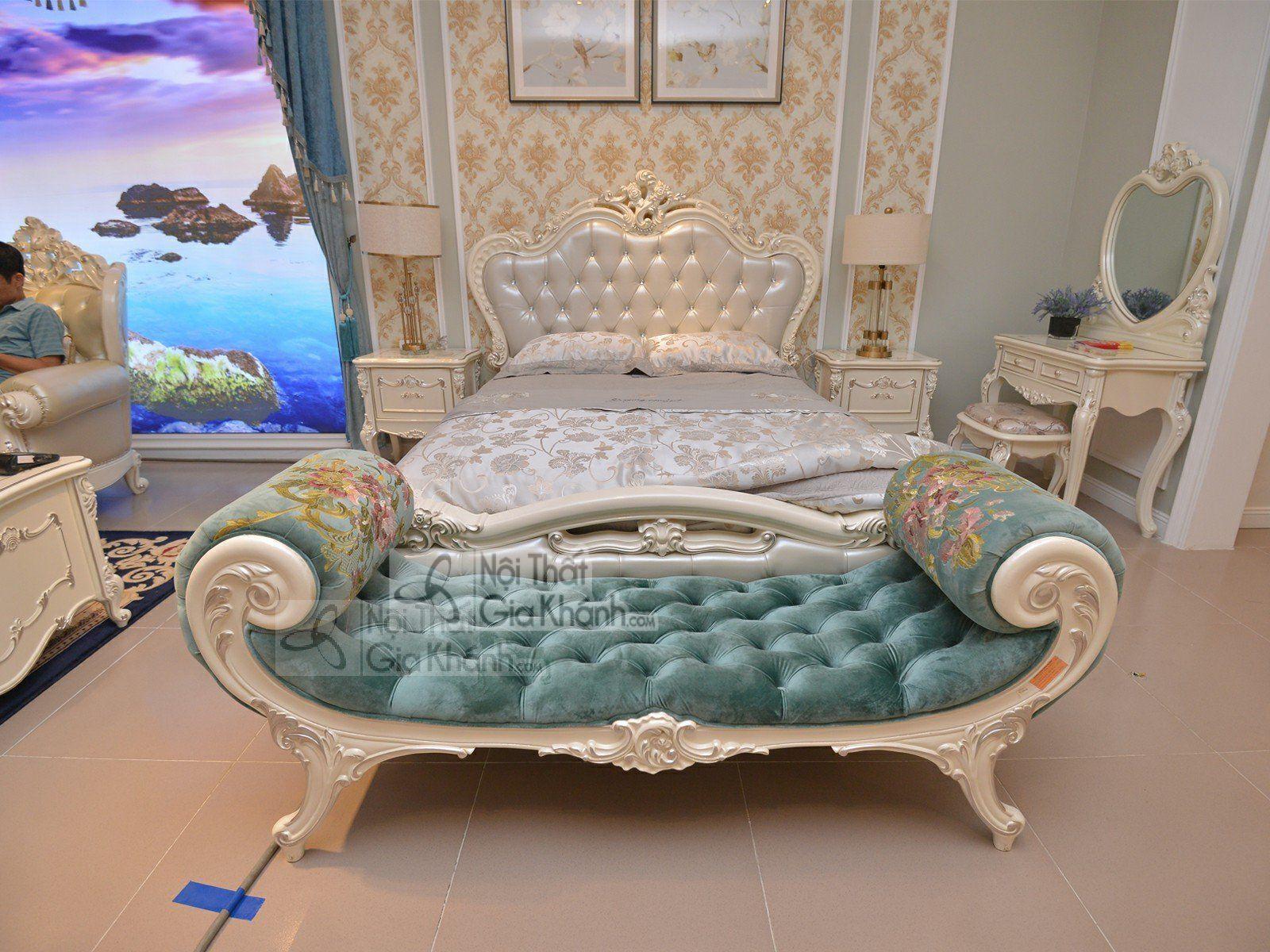 Ghế đuôi giường bọc nhung sang trọng H8801DG