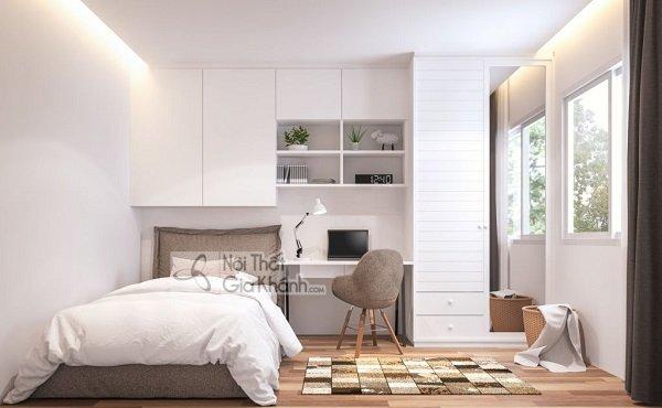 Tiết kiệm không gian với giường ngủ kết hợp tủ quần áo
