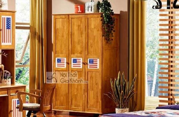 Tủ quần áo Đài Loan bằng gỗ vừa đẹp vừa bền - tu quan ao go dai loan 4