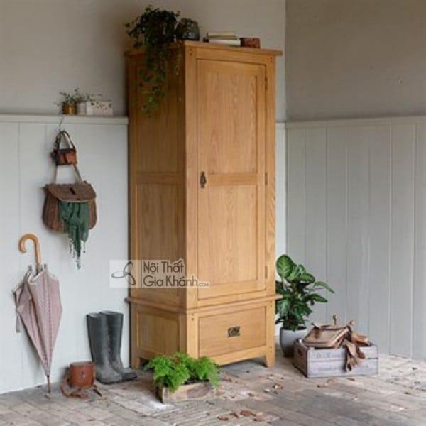 Mẫu tủ quần áo đơn 1 cánh 1 ngăn bằng gỗ rẻ đẹp - tu quan ao go don 1 canh 3