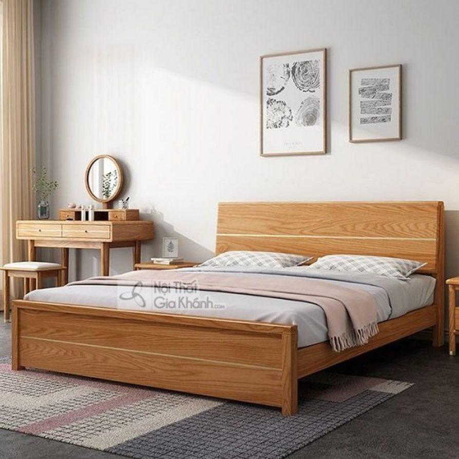 Giường ngủ đôi làm từ gỗ tự nhiên