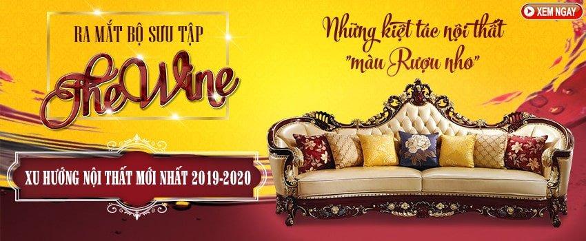 Ra mắt Bộ sưu tập The Wine – Những kiệt tác nội thất màu rượu nho - banner ra mat bst noi that mau nho pc