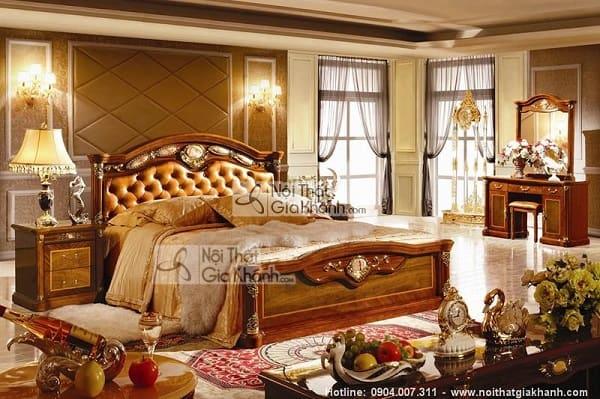 Bộ giường tủ gỗ tự nhiên bền và thẩm mỹ nhất - bo giuong tu go tu nhien ben va tham my nhat 1