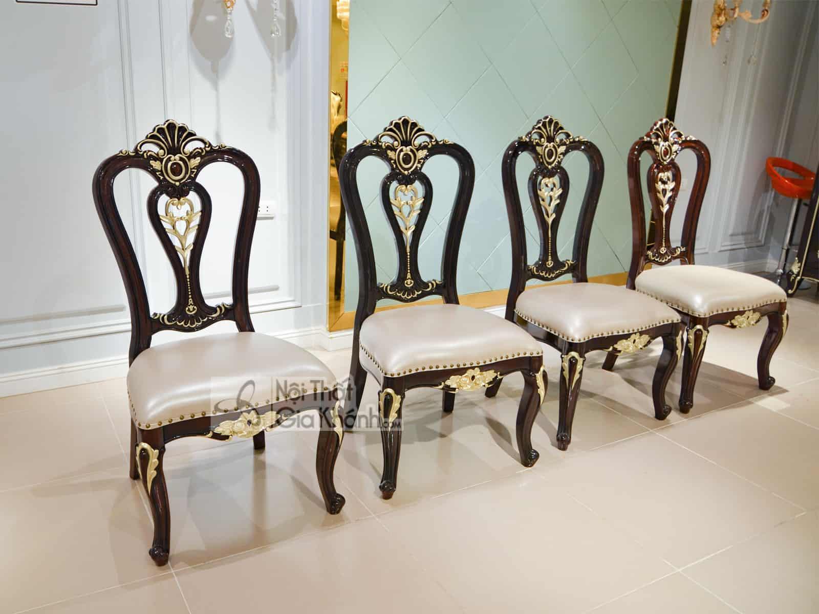 Ghế ăn gỗ cao cấp phong cách tân cổ điển GA8802G
