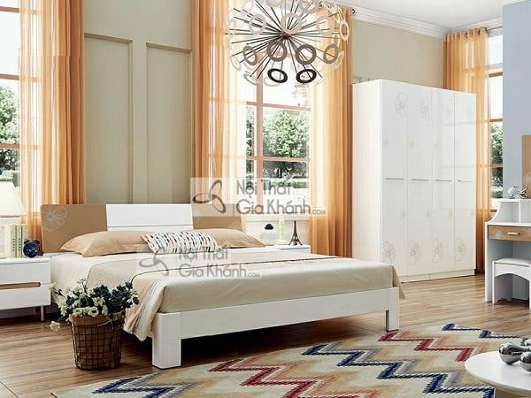 giường 1m5 màu trắng nhâp khẩu