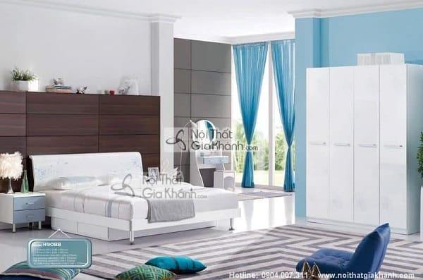 Giường gỗ công nghiệp màu trắng - giuong go cong nghiep mau trang