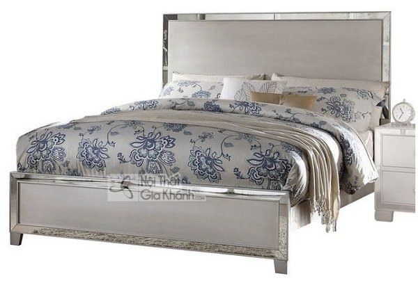Giường bằng kim loại trắng cao cấp