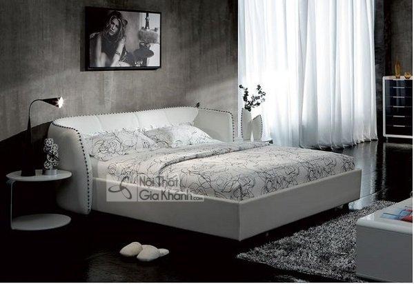 Mẫu giường trắng sang trọng