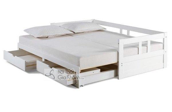 giường ngủ trắng gỗ công nghiệp