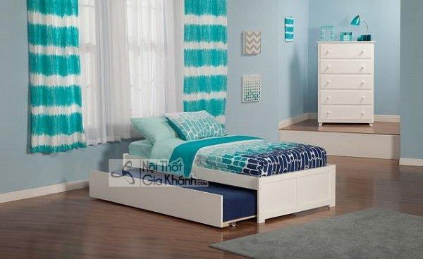 giường ngủ đa năng sơn trắng