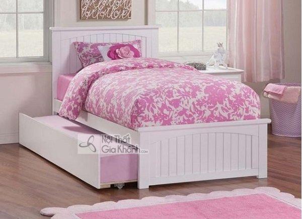 giường trắng hồng đáng yêu